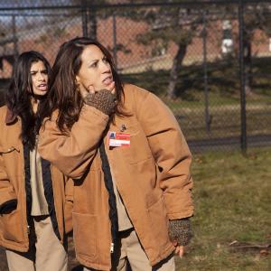 Still of Elizabeth Rodriguez, Diane Guerrero and Dascha Polanco in Orange Is the New Black (2013)