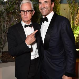 Jon Hamm and John Slattery at event of The 67th Primetime Emmy Awards (2015)