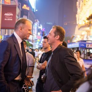 Still of Stellan Skarsgård and Simon Pegg in Kaip Hektoras laimes ieskojo (2014)
