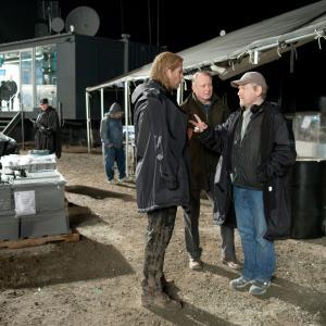 Still of Kenneth Branagh, Stellan Skarsgård and Chris Hemsworth in Toras (2011)