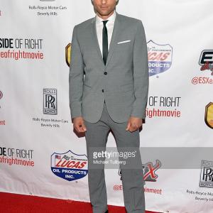 Actor Michael King on the red carpet for the premier of The Wrong Side of Right.