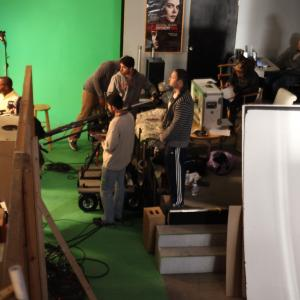 The crew of Whole Nother Level executing a complex shot blocked by director Bruce B Gordon