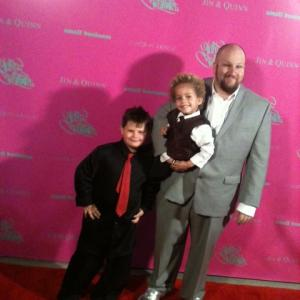 Lukas and Stephen Kramer Glickman at the premier of