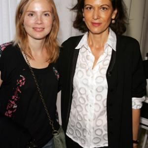 Isabelle Carré and Anne Fontaine