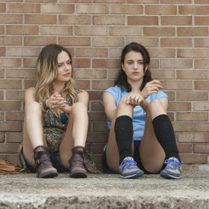 Still of Emily Meade and Margaret Qualley in The Leftovers (2014)