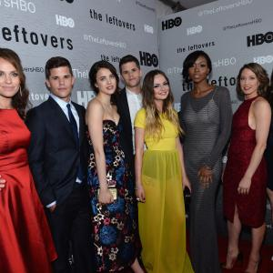 Liv Tyler, Amy Brenneman, Emily Meade, Amanda Warren, Charlie Carver, Max Carver, Carrie Coon and Margaret Qualley at event of The Leftovers (2014)