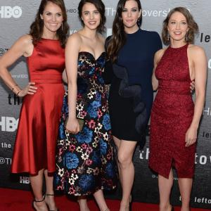 Liv Tyler, Amy Brenneman, Carrie Coon and Margaret Qualley at event of The Leftovers (2014)