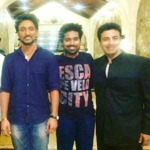 from the shooting spot of tamil movie Rangoon Gautham Karthik Daniel and Prashant Nair