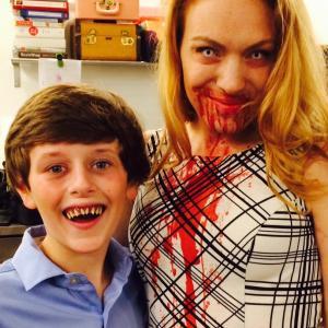 Behind the scenes on set: Joe Cipriano, Kristen Condon