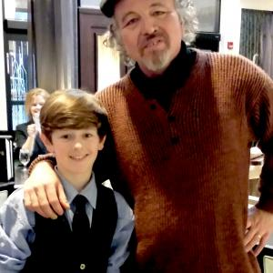 Joe Cipriano with Clint Howard, movie premiere after party.