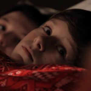 Joe Cipriano (right), Niki Cipriano (left) in a still from the horror film Dead Quiet