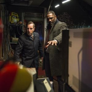 Still of Idris Elba and Michael Smiley in Luther (2010)