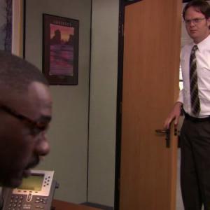 Still of Idris Elba and Rainn Wilson in The Office (2005)
