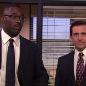 Still of Steve Carell and Idris Elba in The Office (2005)