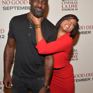 Idris Elba and Taraji P. Henson at event of No Good Deed (2014)
