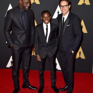 Idris Elba, Cary Joji Fukunaga and Abraham Attah