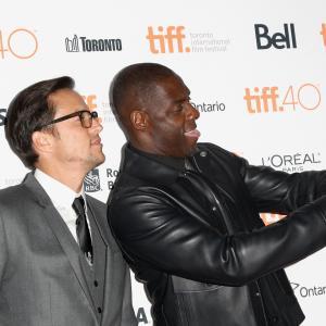 Idris Elba and Cary Joji Fukunaga at event of Beasts of No Nation (2015)