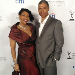 Pamella DPella and Bat Baxter 2013 Emmys Party