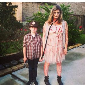 My sister Aubrey and I for Halloween. Guess who we are?