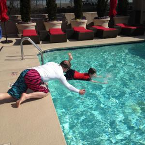 Working with my amazing stunt coordinator