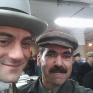 On the Set of Boardwalk Empire with Frank Capone aka Morgan Spector and Steve Garfanti
