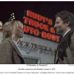 Still of Bradley Cooper and Jennifer Lawrence in Joy (2015)
