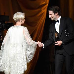 Helen Mirren, Bradley Cooper and Kevin Mazur