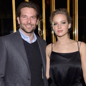 Bradley Cooper and Jennifer Lawrence at event of Serena (2014)