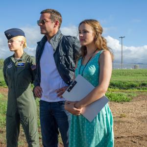 Still of Bradley Cooper, Rachel McAdams and Emma Stone in Aloha (2015)