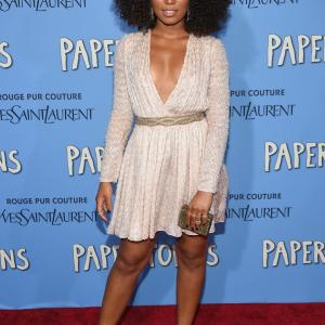Jaz Sinclair attends the Paper Towns New York Premiere