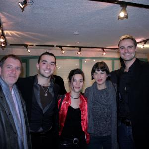 Aziz Tazi with the main cast of IMAGO at the European Premiere in Paris France