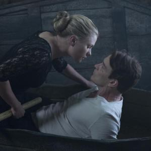 Still of Anna Paquin and Stephen Moyer in Tikras kraujas 2008