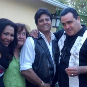 Sandra Santiago and Erik Estrada on the set of Sangre Negra Los Angeles California wwwSandraSantiagocom