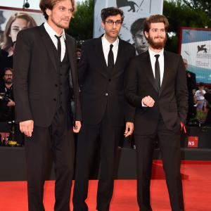 Michael Shannon, Ramin Bahrani and Andrew Garfield at event of 99 Homes (2014)