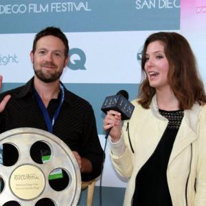 Jeff Durkin winning best film at the San Diego film festival 2010