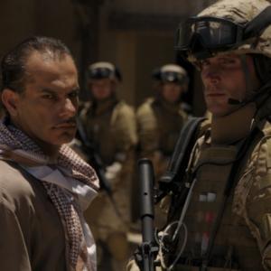 With Said Faraj on the set of Casualties