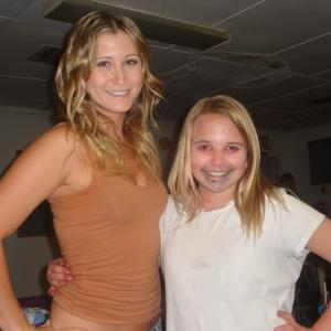 With Gabrielle Stone on the set of Speak No Evil