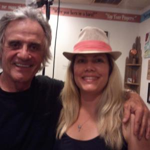 Terry Kiser and Michele B McGraw on the set of Bail Out