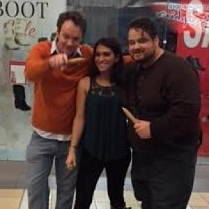 Isabella with Brian Sutherland and director Brad L Lyon