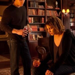 Still of Ian Somerhalder and Lauren Cohan in Vampyro dienorasciai 2009