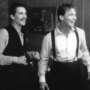 Still of Ethan Hawke and Matthew McConaughey in The Newton Boys 1998