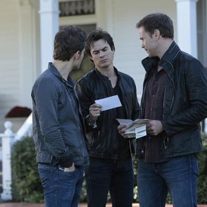 Still of Matthew Davis, Ian Somerhalder and Paul Wesley in Vampyro dienorasciai (2009)