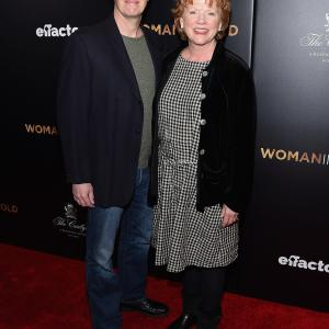 Becky Ann Baker Dylan Baker and Emma Stone at event of Woman in Gold 2015