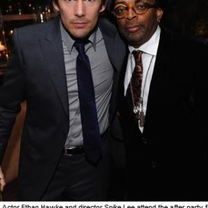 Ethan Hawke and Spike Lee at event of Brooklyns Finest 2009