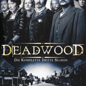Brad Dourif Powers Boothe Paula Malcomson Ian McShane Timothy Olyphant Molly Parker and Robin Weigert in Deadwood 2004
