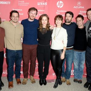 Sam Rockwell, Trevor Groth, Brie Larson, Ron Livingston, Rosemarie DeWitt, Joe Swanberg and Jake Johnson at event of Digging for Fire (2015)