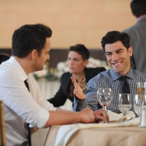 Still of Max Greenfield and Jake Johnson in New Girl (2011)