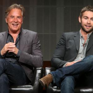 Don Johnson and Chace Crawford at event of Blood & Oil (2015)