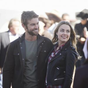 Still of Chace Crawford and Rebecca Rittenhouse in Blood & Oil (2015)