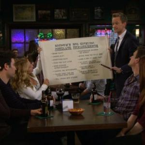 Still of Neil Patrick Harris, Alyson Hannigan, Jason Segel, Josh Radnor, Cobie Smulders and Becki Newton in Kaip as susipazinau su jusu mama (2005)